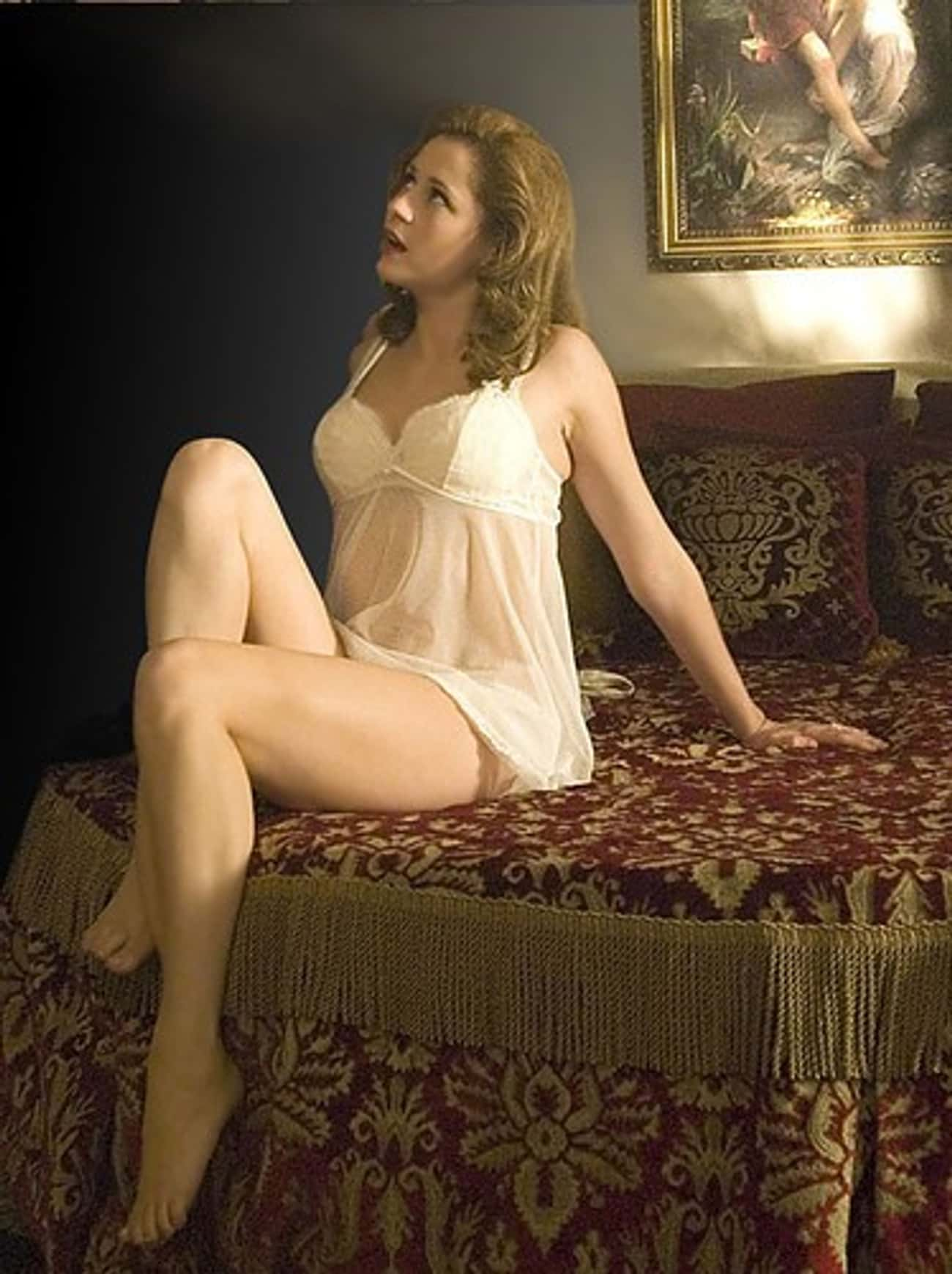 Jenna Fischer in Lace and Mesh Chemise