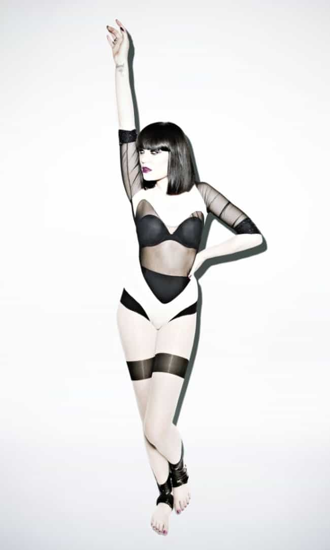 Jessie J in Heart Cut One Piec... is listed (or ranked) 3 on the list Hottest Jessie J Photos