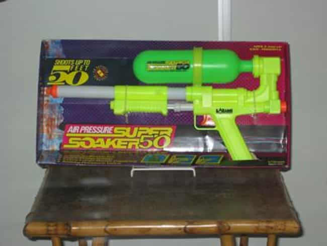 Super Soakers is listed (or ranked) 2 on the list The Most Nostalgia-Inducing '90s Toys