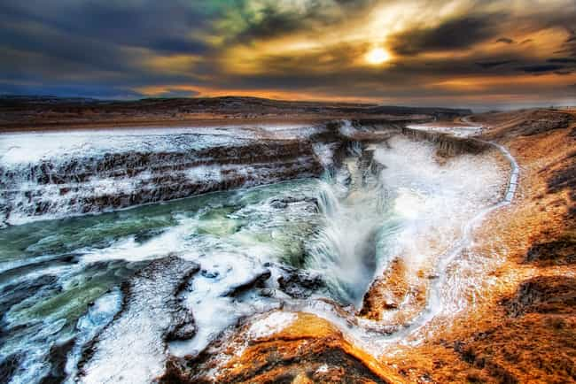 Gullfoss is listed (or ranked) 5 on the list The Top 9 Landmarks to Visit in Iceland