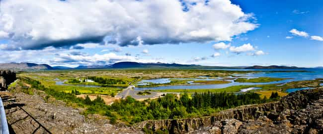 Pingvellir National Park is listed (or ranked) 8 on the list The Top 9 Landmarks to Visit in Iceland