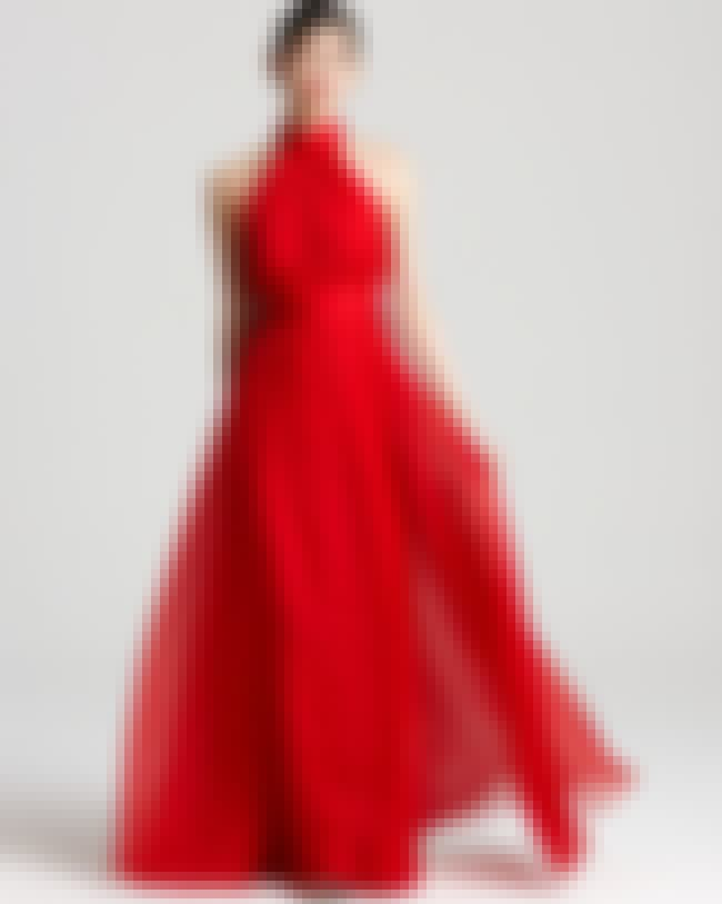Badgley Mischka Red Halter Gow... is listed (or ranked) 4 on the list 2012 Prom Couture Looks