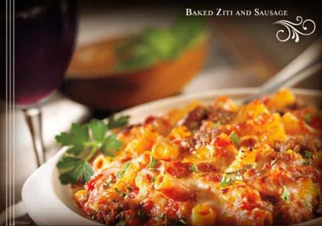 Baked Ziti and Sausage ... is listed (or ranked) 3 on the list Maggiano's Recipes