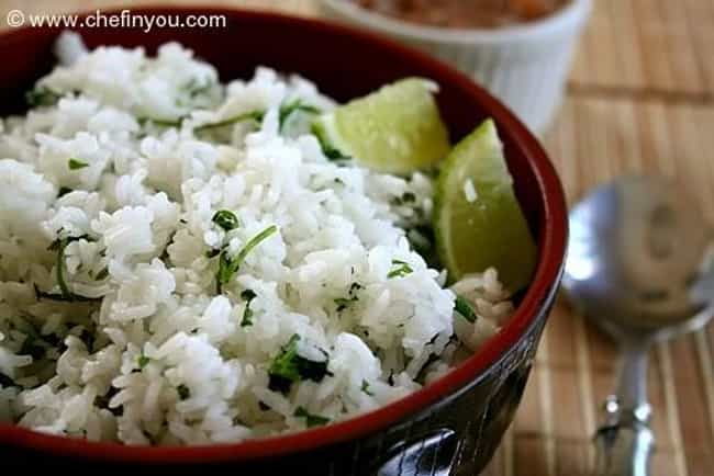 Lime Cilantro Rice is listed (or ranked) 1 on the list Qdoba Recipes