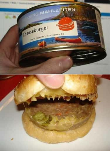 Canned Cheeseburger is listed (or ranked) 1 on the list The Most Disgusting Canned Foods