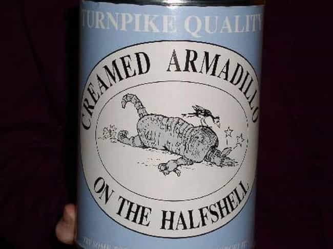 Canned Armadillo is listed (or ranked) 4 on the list The Most Disgusting Canned Foods