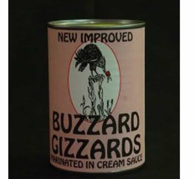 Canned Buzzard Gizzards