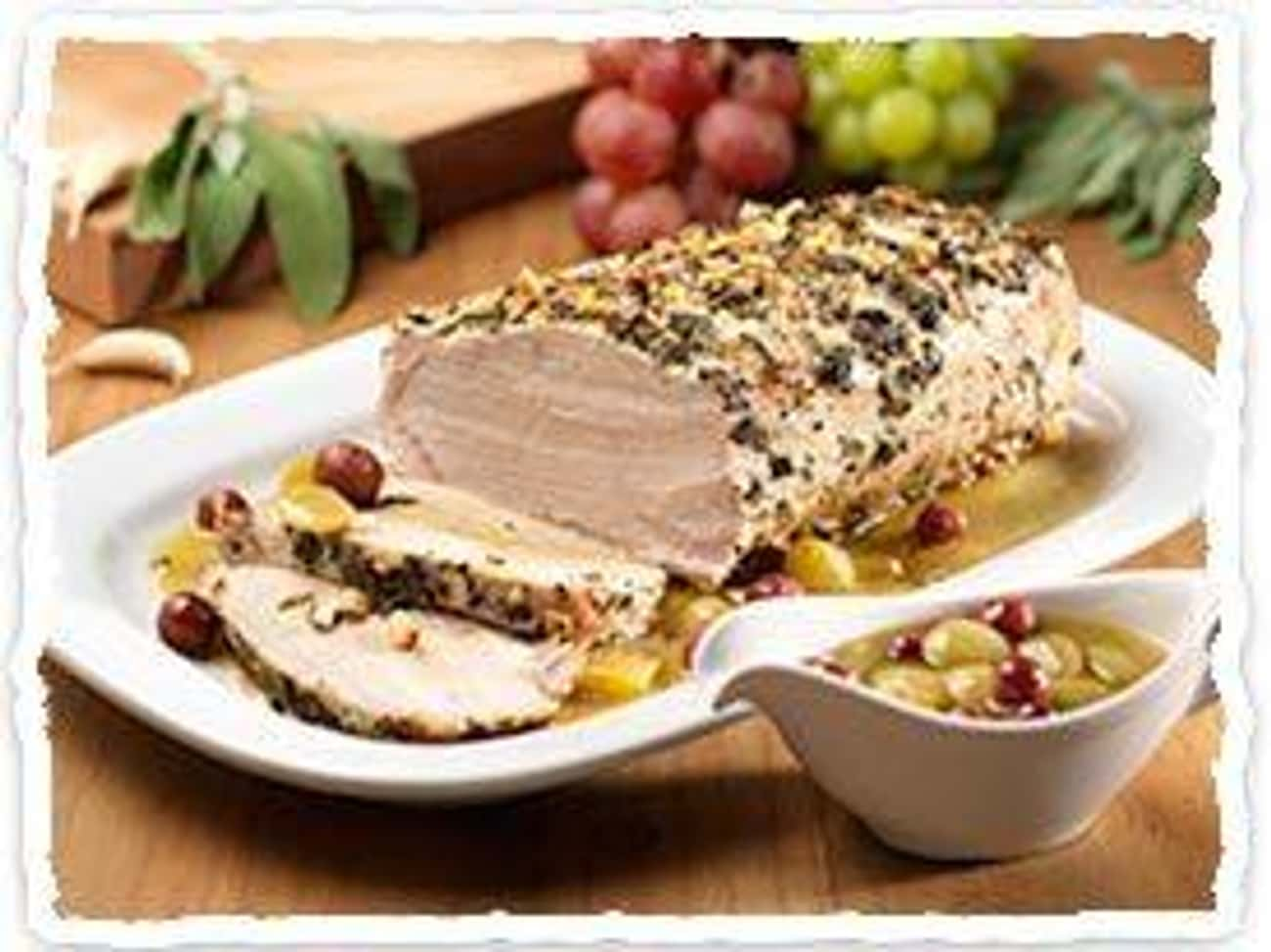 Roast Pork Loin with Grapes an is listed (or ranked) 1 on the list Olive Garden Recipes