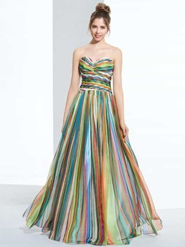 3547250a582 Rainbow Prom Dress is listed (or ranked) 1 on the list The Ugliest Prom