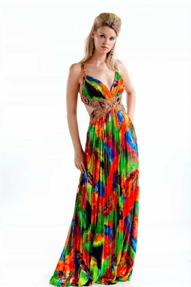 Ugly prom dresses list of worst prom fashion disasters tropical terror prom dress junglespirit Choice Image