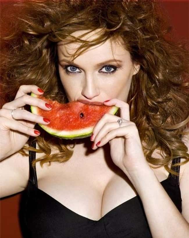 Christina Hendricks Eating Wat is listed (or ranked) 25 on the list 38 Sexiest Christina Hendricks Pictures