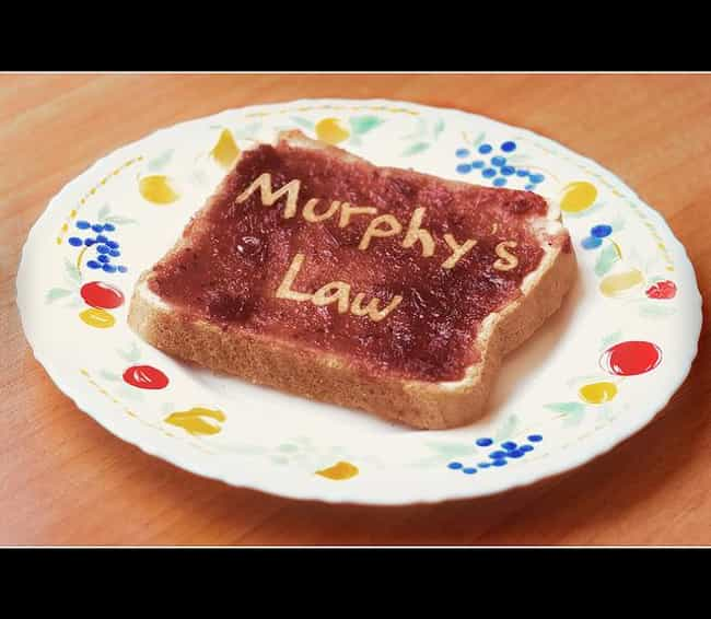 Murphy's law on work is listed (or ranked) 1 on the list 20+ Pretty Good Jokes About the Workplace
