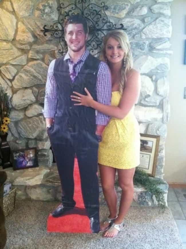 Cardboard Tim Tebow Atte... is listed (or ranked) 2 on the list The 7 Greatest Novelty Prom Dates