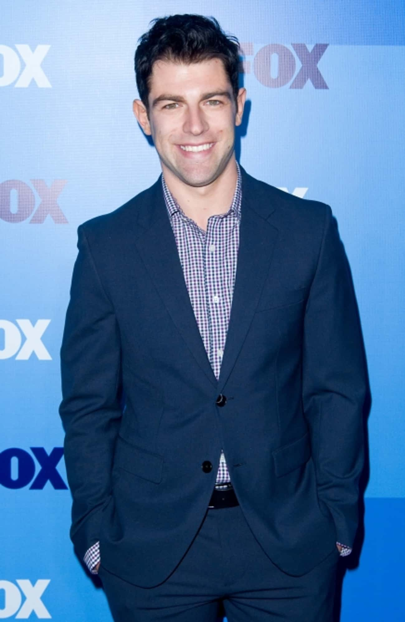 Max Greenfield in Navy Lapel T is listed (or ranked) 3 on the list Hot Max Greenfield Photos