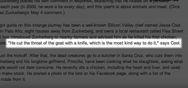 Zuckerberg Only Eats What He K... is listed (or ranked) 2 on the list The 8 Most Awkward Mark Zuckerberg Moments