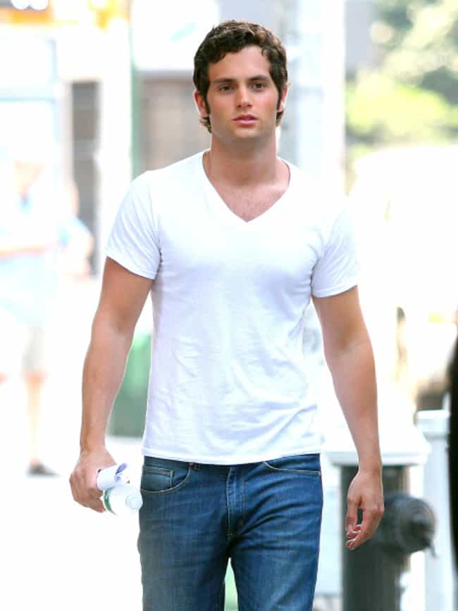 Penn Badgley in White V-... is listed (or ranked) 3 on the list Hot Penn Badgley Photos