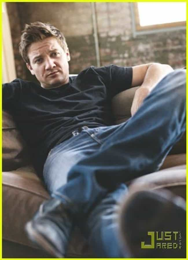 Jeremy Renner in Black T... is listed (or ranked) 2 on the list Hot Jeremy Renner Photos