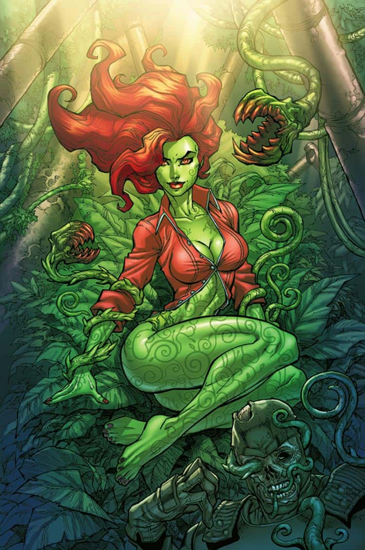 Poison Ivy in Red Blouse Top