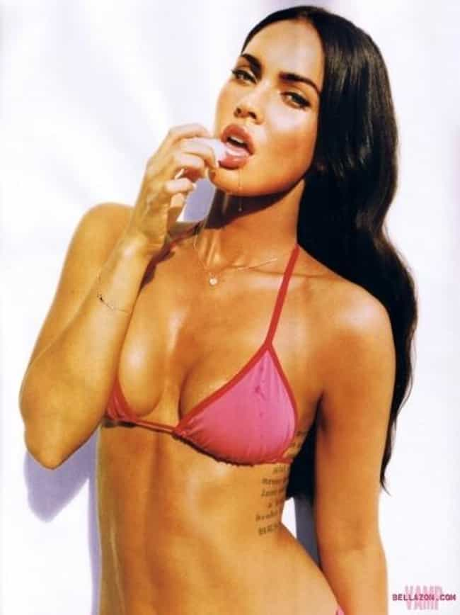 Megan Fox In Pink Triangle Bik... is listed (or ranked) 3 on the list The Hottest Megan Fox Photos