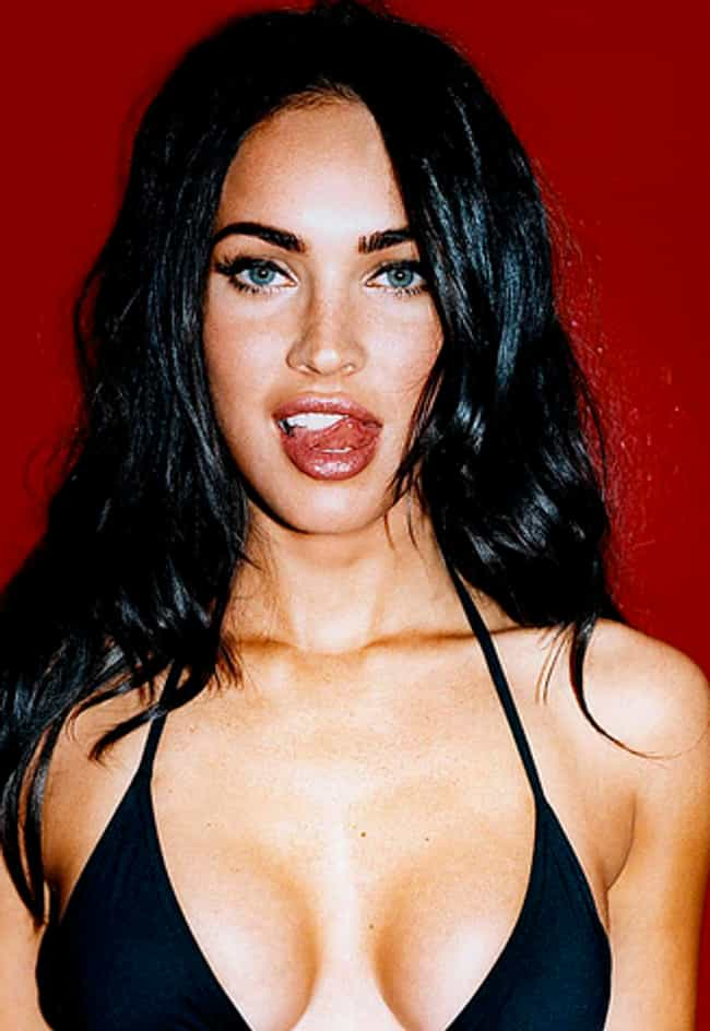 Shiny Megan Fox Licking Her Li... is listed (or ranked) 2 on the list The Hottest Megan Fox Photos