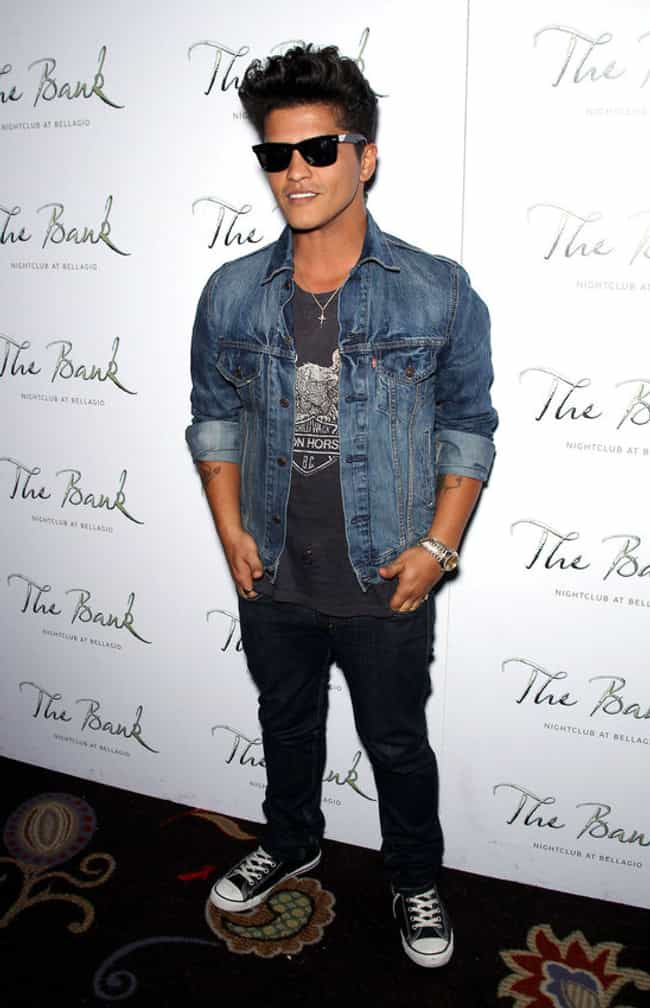 Bruno Mars in Denim Jack... is listed (or ranked) 7 on the list Hot Bruno Mars Photos