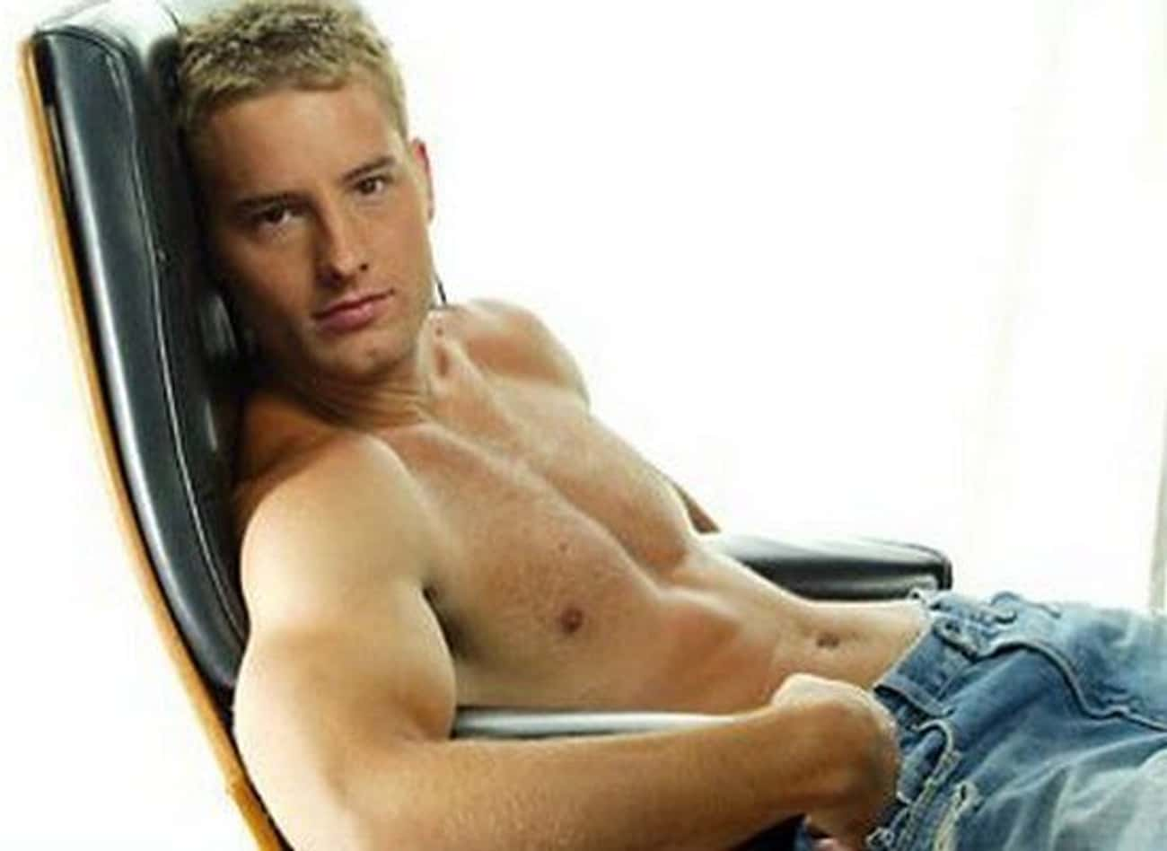 Justin Hartley in Shirtless with Straight Jeans