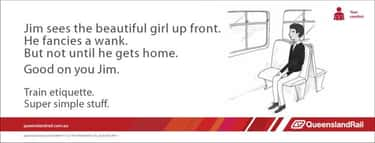 Jim Sees a Hot Girl is listed (or ranked) 1 on the list The Best of the Queensland Rail Ad Meme