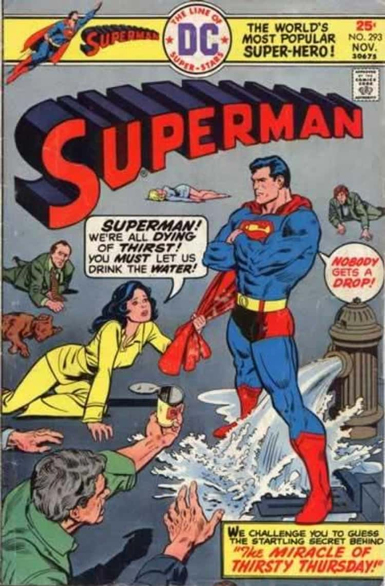 Another One Where Superman Denies People Water