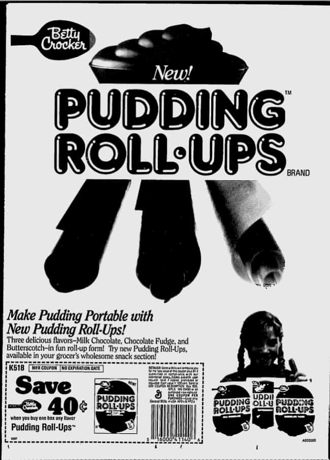 Betty Crocker Pudding Roll-Ups
