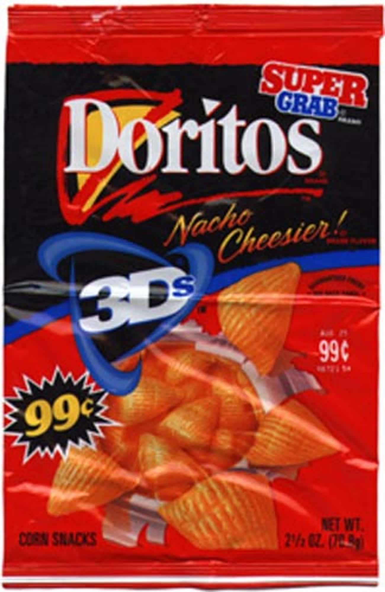 Doritos 3Ds is listed (or ranked) 3 on the list The Greatest Discontinued '90s Foods And Beverages