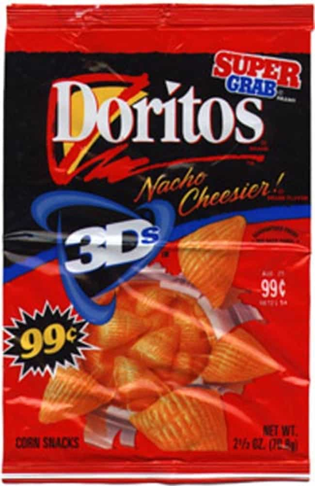 Doritos 3Ds is listed (or ranked) 4 on the list The Greatest Discontinued '90s Foods And Beverages