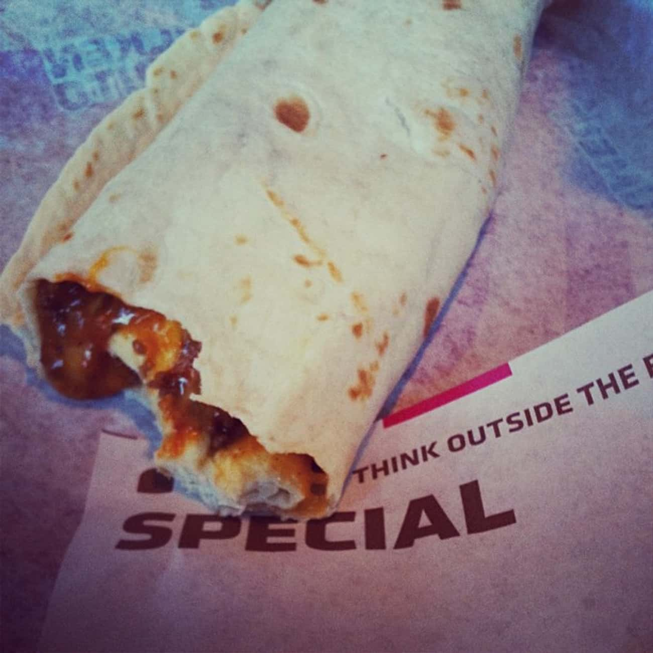 Chili Cheese Burrito is listed (or ranked) 4 on the list Taco Bell Secret Menu Items