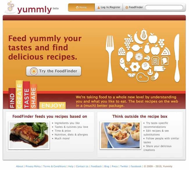 Yummly.com is listed (or ranked) 8 on the list The Best Recipe Websites