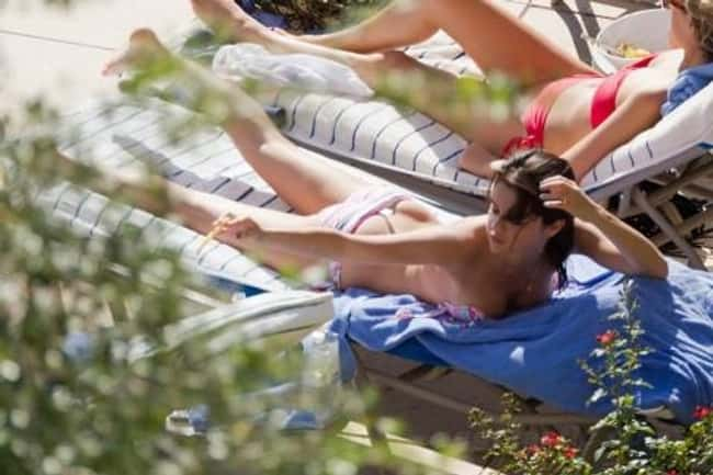 Selena Gomez Getting Some Sun is listed (or ranked) 6 on the list The 20 Hottest Pictures of Selena Gomez