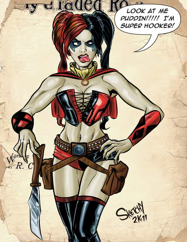 Harley Quinn in Leather ... is listed (or ranked) 2 on the list The Most Stunning Harley Quinn Pictures