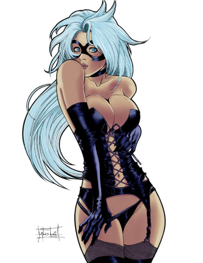 Black Cat In Black Lingerie Is Listed Or Ranked  On The List Sexy