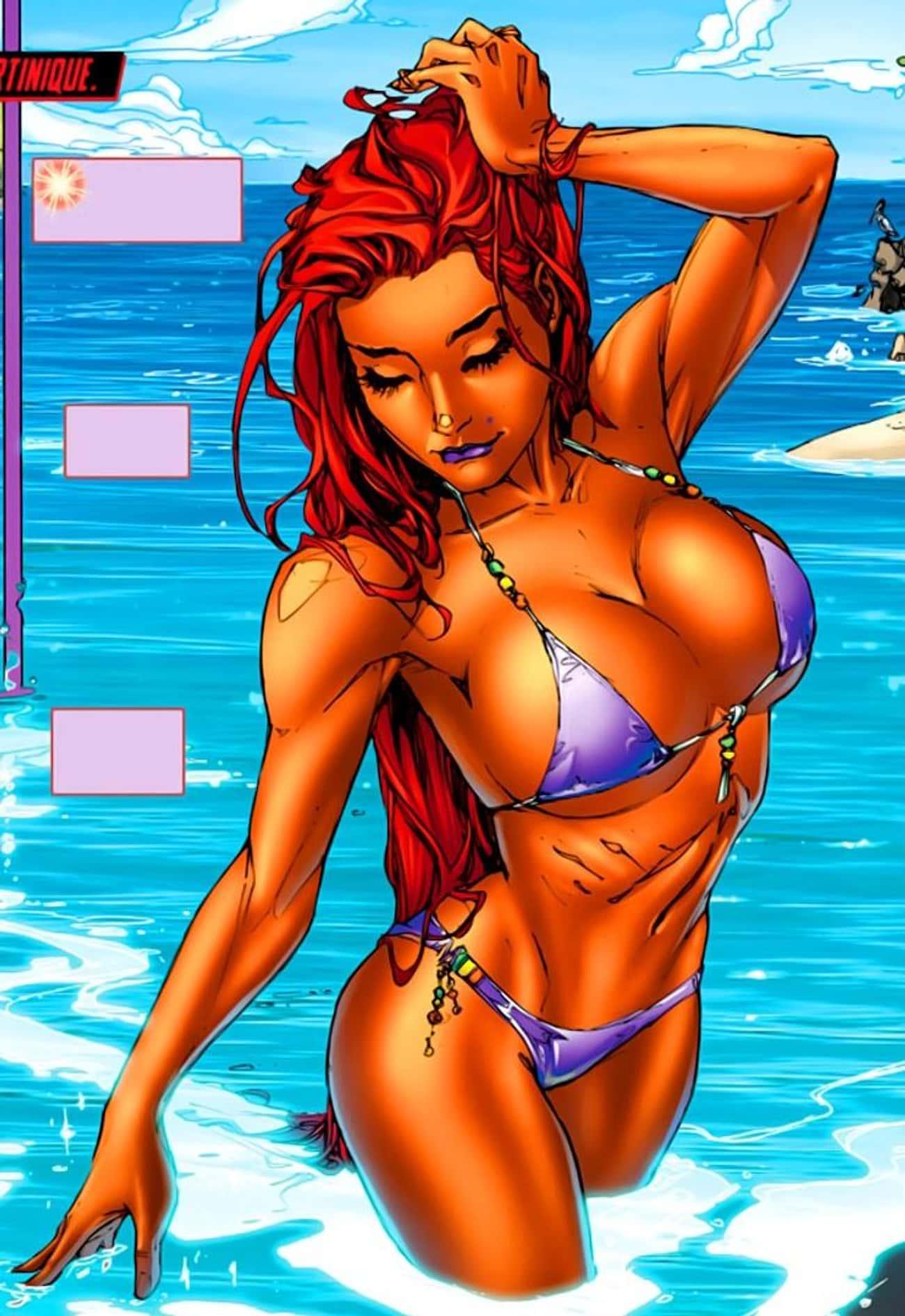 Starfire In Triangle Bikini