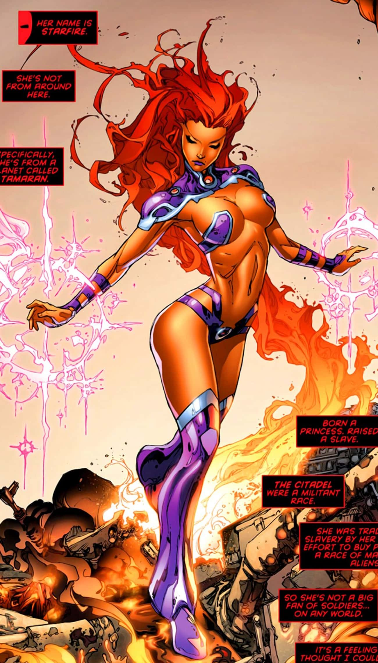 Starfire In Purple V Outfit