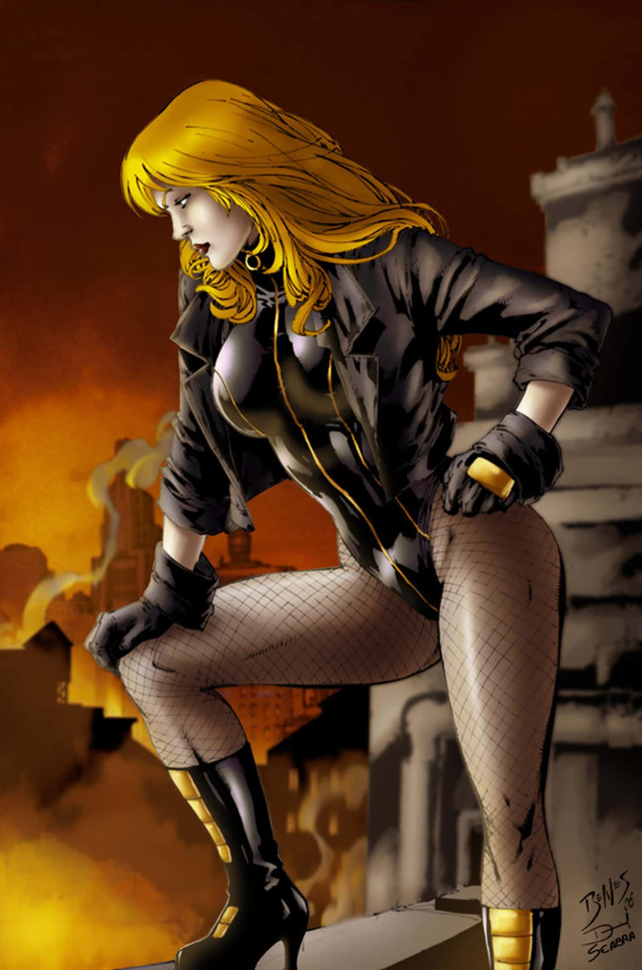 Black Canary in Black Suit wit is listed (or ranked) 2 on the list The Most Attractive Black Canary Pictures