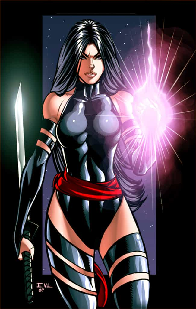 Psylocke in Black Mutant Outfi... is listed (or ranked) 4 on the list Sexy Psylocke Pictures
