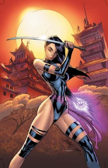 Psylocke in Knotty Leather Sui is listed (or ranked) 2 on the list Sexy Psylocke Pictures