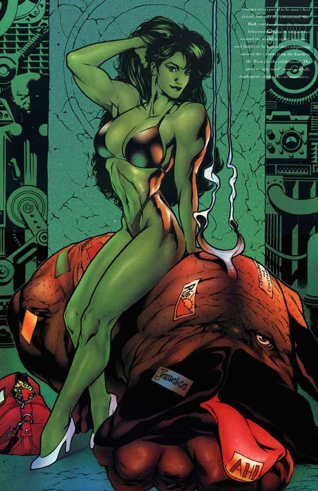 She-Hulk Flexing is listed (or ranked) 3 on the list The Most Stunning She-Hulk Pictures