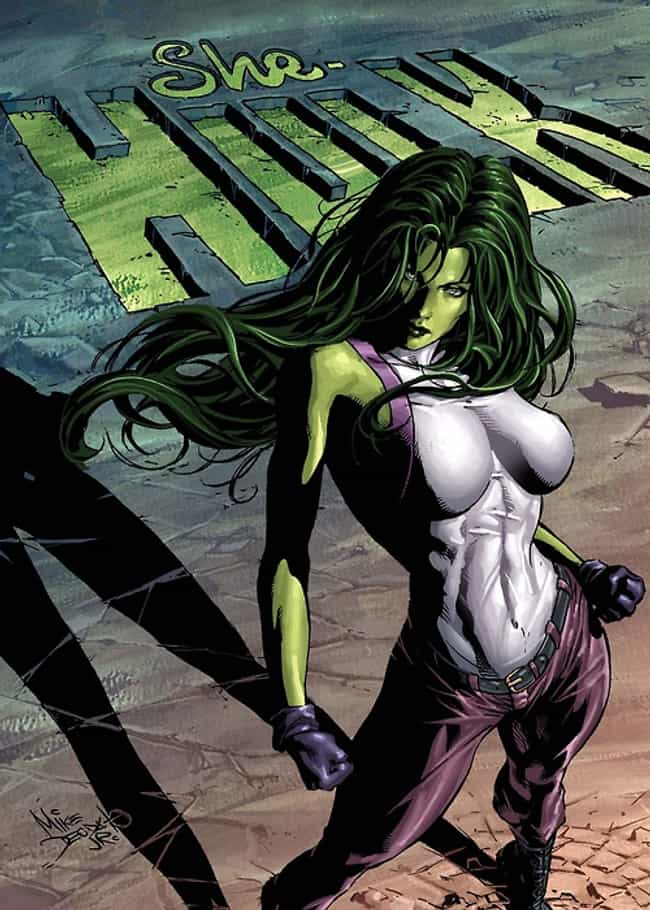 She-Hulk in Swimsuit wit... is listed (or ranked) 4 on the list The Most Stunning She-Hulk Pictures