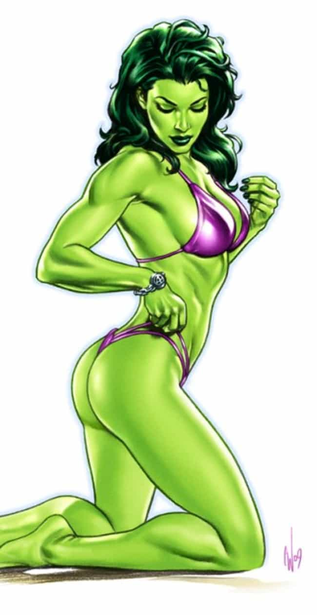 She-Hulk in Purple Bathi... is listed (or ranked) 1 on the list The Most Stunning She-Hulk Pictures