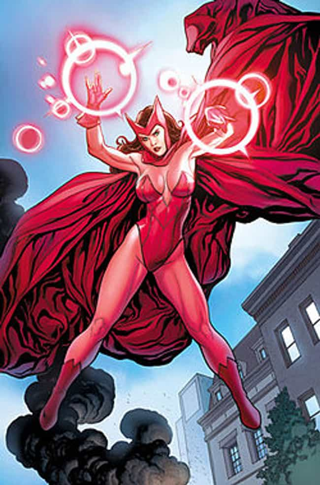 Scarlet Witch in Red Bat... is listed (or ranked) 4 on the list The Most Stunning Scarlet Witch Pictures