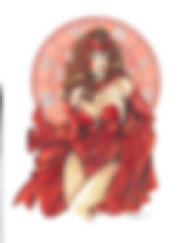 Scarlet Witch in Red Bustier C... is listed (or ranked) 4 on the list Sexy Scarlet Witch Pictures