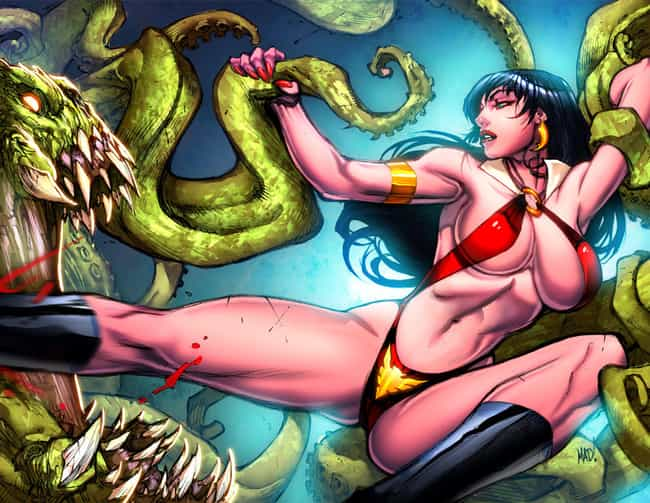 Vampirella in Leather St... is listed (or ranked) 2 on the list The Most Beautiful Vampirella Pictures