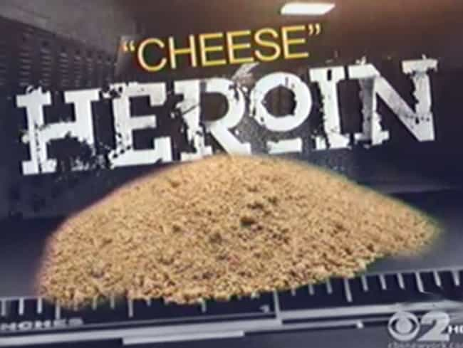 Cheese is listed (or ranked) 4 on the list The 12 Weirdest Ways Kids Are Getting High Lately