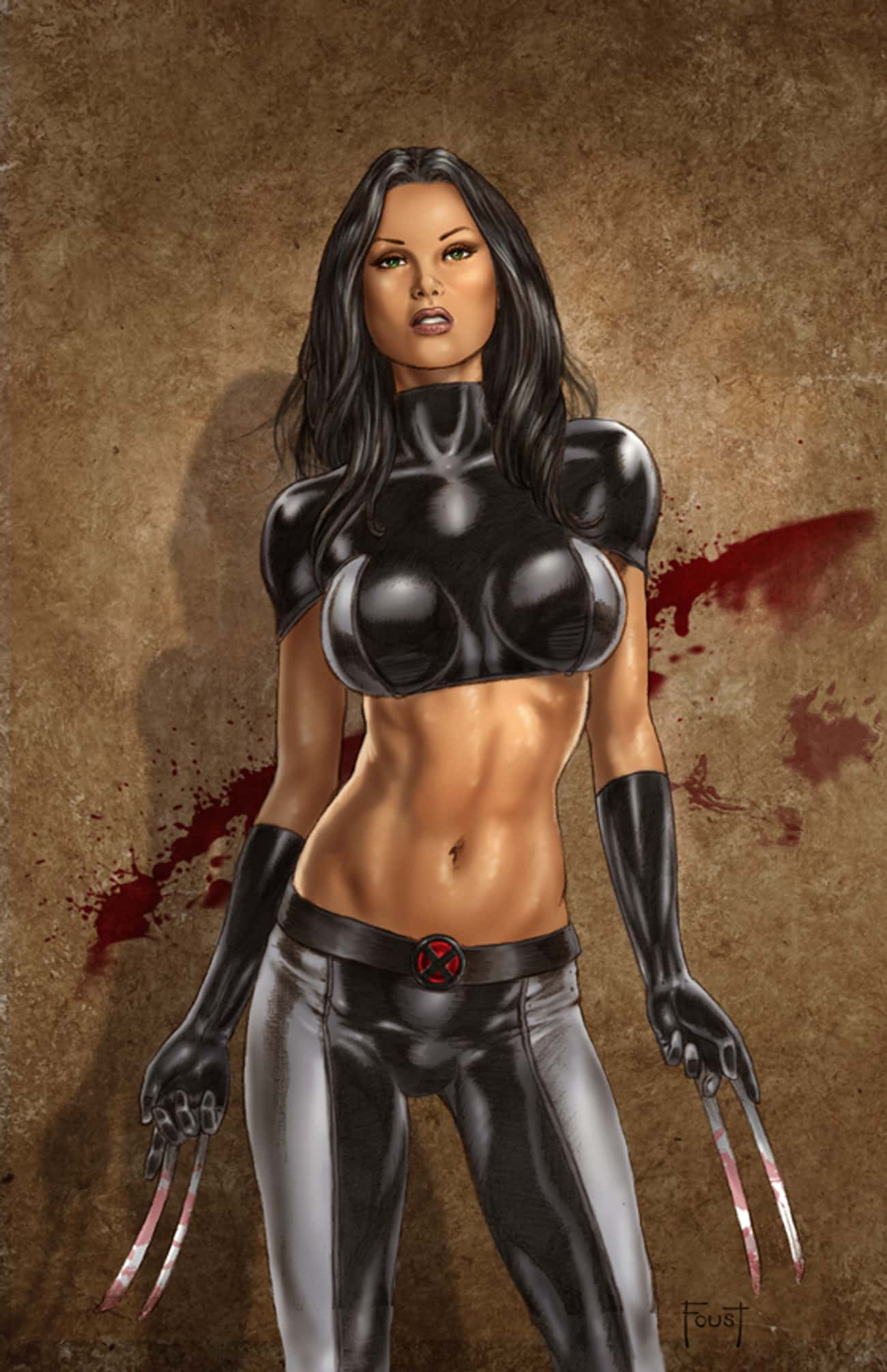 X-23 in Tight Leather Suit