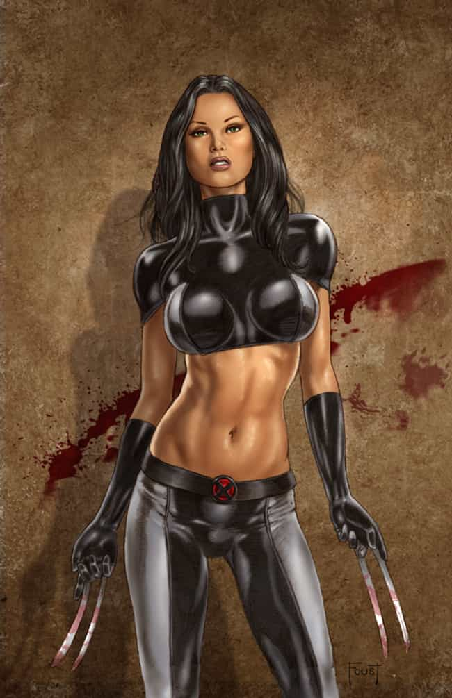 X-23 in Tight Leather Su... is listed (or ranked) 1 on the list Sexy X-23 Pictures